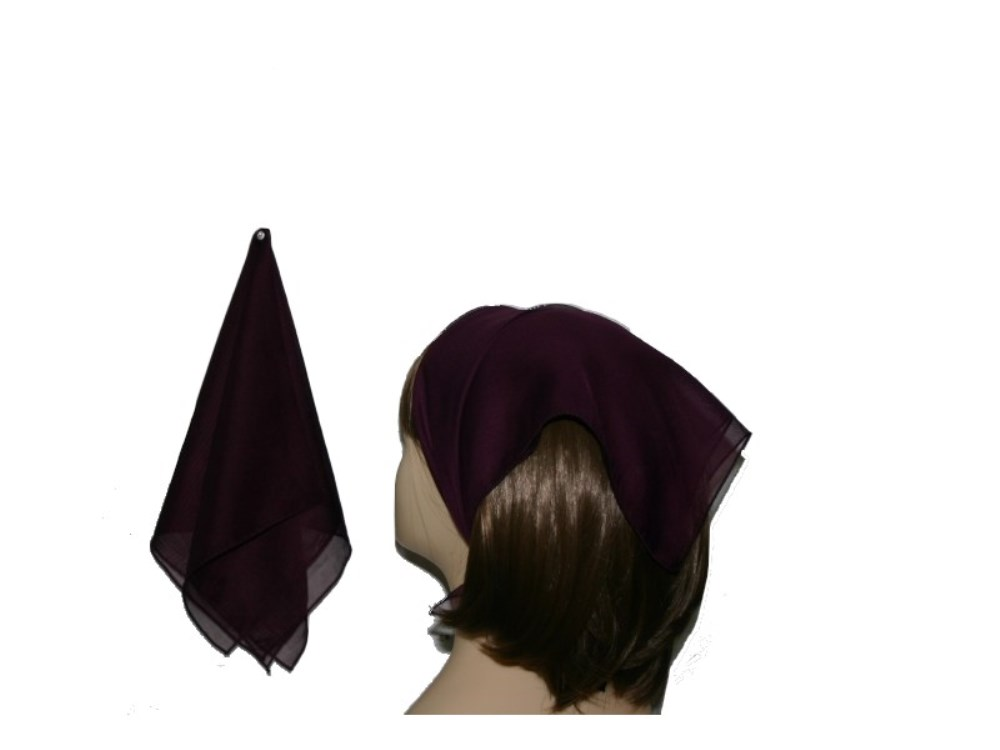 58-22 Mici simple/polyester- Burgundy