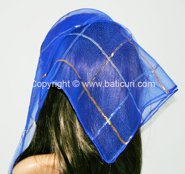 #15 SQ Gold and Silver Lurex single line-Royal blue