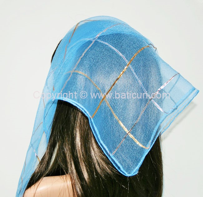 #15 SQ Gold and Silver Lurex single line-Blue