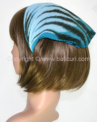 108-47 Italian pleated tiger design-Aqua