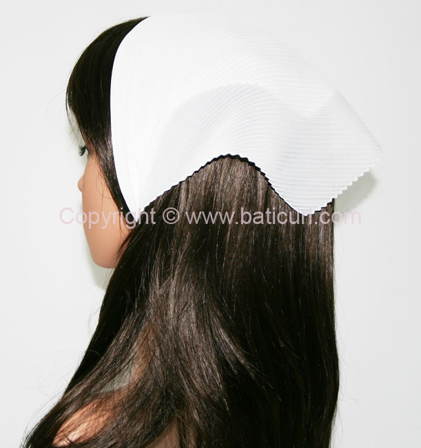 Italian Pleated Solid Scarves -White