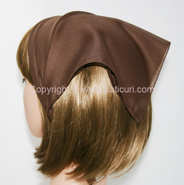 115-08 Small Polyester Italian Scarves -Dk. brown