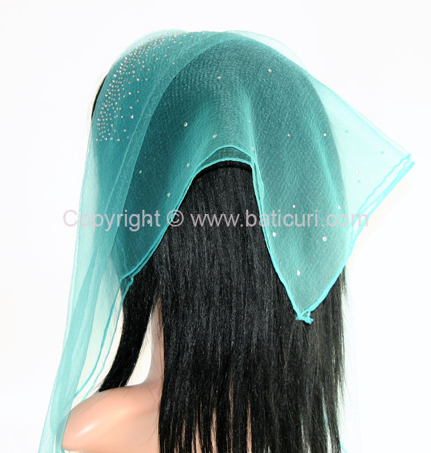 New! Lia- Front and Back Scattered Rhinestones- Turquoise